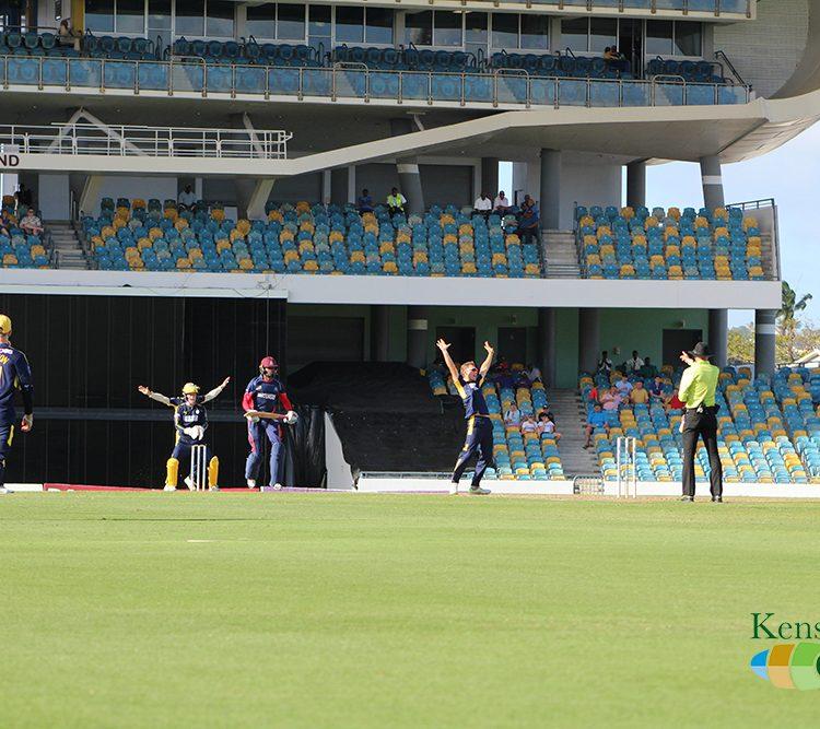 Hampshire celebrates wicket!